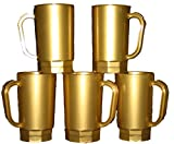 Talisman, Plastic Beer Mugs, 1 Pint, Pack 75, Color Pearl Gold