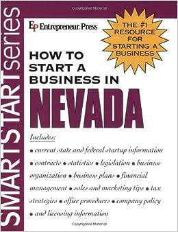 Book How to Start a Business in Nevada (Smartstart Series)