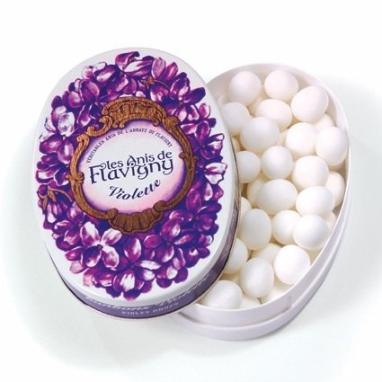 Abbaye de Flavigny Oval Traditional Tin Violet Flavored Anise drops all natural, 1.8 oz, Six by Abbay de Flavigny ()