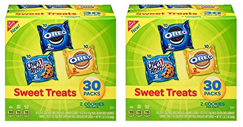 Nabisco Sweet Treats - Variety Pack Cookies, 30 Count Box, 23.4 Ounce (2 Packs)