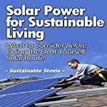 Solar Power for Sustainable Living: What to Consider Before Going the Do-It-Yourself Solar Route | Sustainable Stevie