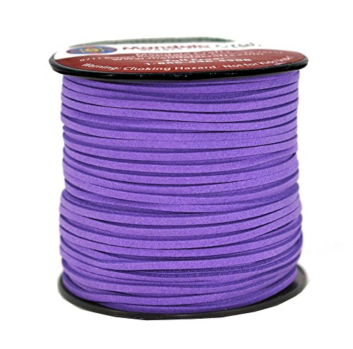Mandala Crafts 100 Yards 2.65mm Wide Jewelry Making Flat Micro Fiber Lace Faux Suede Leather Cord (Light Purple) ()
