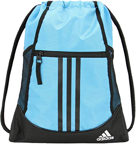 adidas Unisex Alliance II Sackpack, Bright Cyan/Black/White, ONE SIZE from adidas