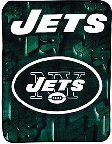 NFL Football New York Jets Blanket 45x60 Acrylic Junior Plush Mink Raschel Soft Thick Throw Baby Infant