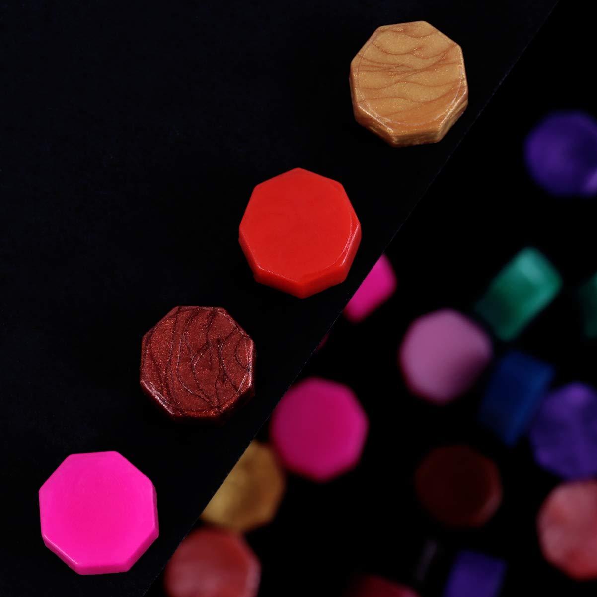 SUPVOX 100 pezzi di bastoncini di perle di ceralacca ottagonale kit di perline di sigillo di cera colorato retr/ò ottagonale per sigillare il timbro di cera