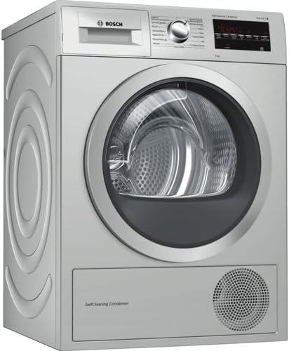 Bosch Serie 6 WTG8729XEE Independiente Carga frontal 9kg A++ Acero inoxidable - Secadora (Independiente, Carga frontal, Bomba de calor, Acero inoxidable, Giratorio, Tocar, Derecho)