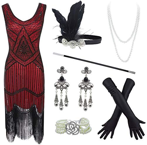 20s Flapper Gatsby Sequin Beaded Evening Cocktail