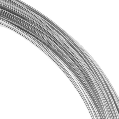 (Beadalon 316L Stainless Steel Wrapping Wire, 16-Gauge, Round)