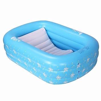 GZ Bañera Hinchable, Bebé Piscina de Baño Plegable Engrosamiento ...