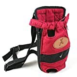 OLizee Portable Legs Out Pet Front Carrier Pet Travel Carrier Cat Dog Backpack Pet Carrier Bag, Size M