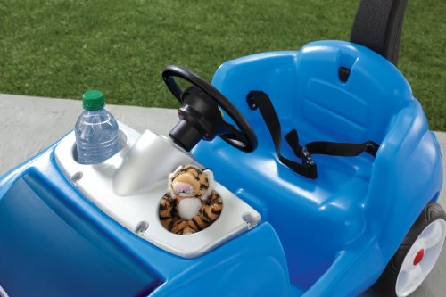Image of the Step2 Whisper Ride II Ride On Push Car, Blue