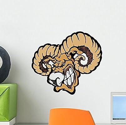 Amazon.com: wallmonkeys wm269563 RAM Mascot Cartoon ...