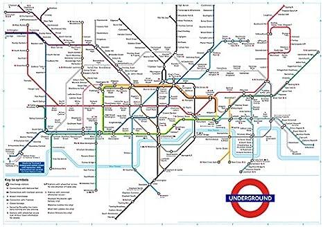 Revendic Art Affiche Poster Plan Du Metro Londres Couleur 40x30 Cms Amazon Fr Cuisine Maison