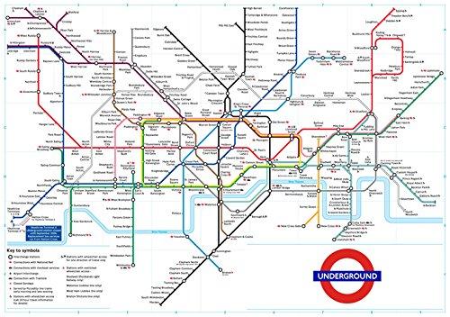 Cartel-Póster del Plan de metro de Londres, color blanco, se ...