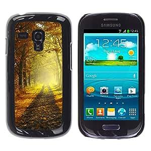 """For Samsung Galaxy S3 MINI ( NOT for regular S3 , S-type Mañana de otoño"""" - Arte & diseño plástico duro Fundas Cover Cubre Hard Case Cover"""