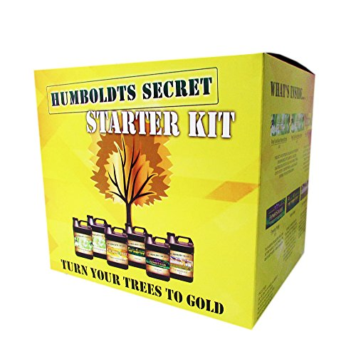 Humboldts Secret Starter Kit - World's Best Nutrient System: Base A & B, Golden Tree, Flower Stacker, Plant Enzymes and CalMag & Iron by Humboldts Secret