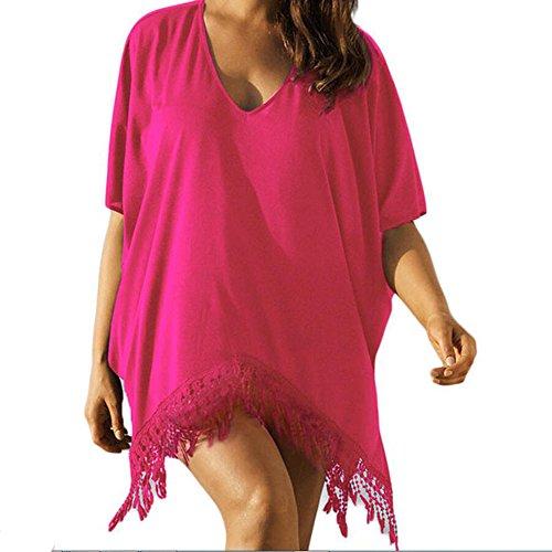 Rose Dress Beach Red Swimsuit Cover Bikini Women Fashion zhxinashu up Tassel Xaz7zA