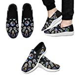 InterestPrint Fashion Sneaker Painted Unique Church Slip-on Men's Canvas Flat Shoes