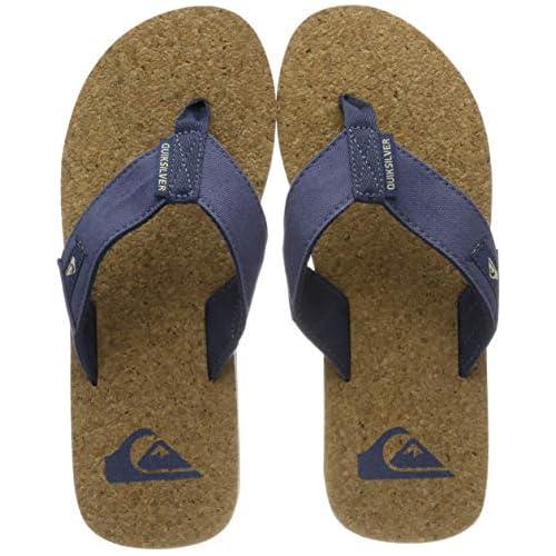 chollos oferta descuentos barato Quiksilver Molokai Abyss Cork Sandals For Men Zapatos de Playa y Piscina para Hombre Azul Blue Brown Blue Xbcb 46 EU
