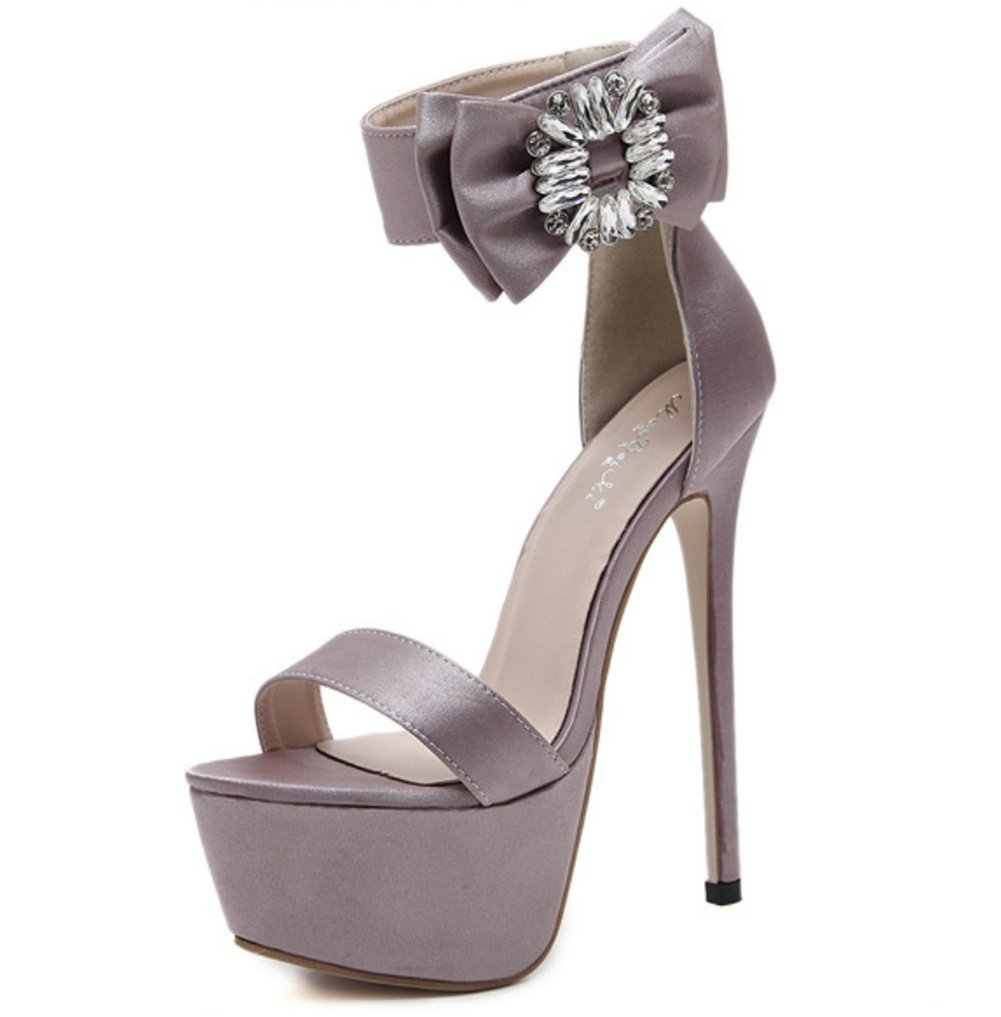 Damen Peep Toe Riemchen Plattform Stilett Hochzeit Abend Hoher Absatz Fesselriemen Sandalen Schuhe Abend Hochzeit Abschlussball Party Pink 8c6ff5