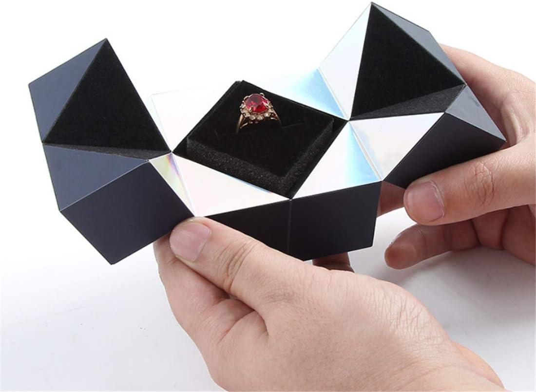 E5SK.Apo Scatola Regalo Pieghevole con Anello Rotante per cubo Creativo , Utilizzata per proporre Il Matrimonio