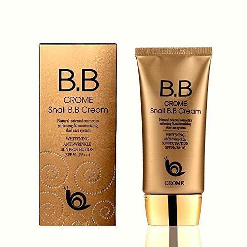 Crome Snail B.b Cream 50ml / Whitening,anti-wrinkle,sun Protection (Spf 50+,pa+++)