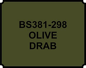 wlw OLIVE DRAB GREEN 298 PAINT - HEAT RESISTANT - 400ML AEROSOL SPRAY PAINT  CAN GLOSS
