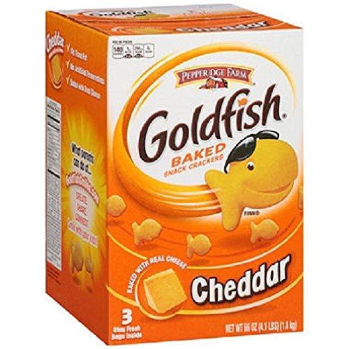 Pepperidge Farm Goldfish Cheddar Baked Snack Crackers (66 oz., 3 ct.) by Pepperidge Farm
