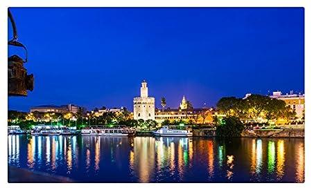 España casas ríos ciudades noche Sevilla muebles & decoración imán ...