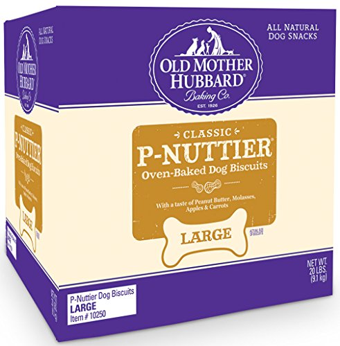 Old Mother Hubbard Classic Crunchy Natural Dog Treats, P-Nuttier Large Biscuits, 20-Pound Box (Bone Dog Biscuit)