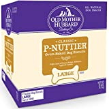 Old Mother Hubbard Classic Crunchy Natural Dog Treats, P-Nuttier Large Biscuits, 20-Pound Box