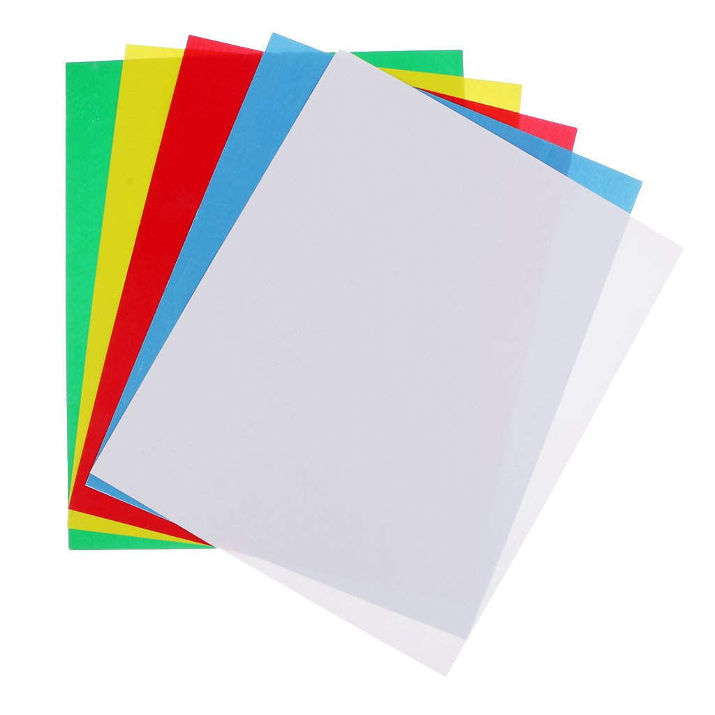 Baoblaze 5 Colors Durable One Side Tracing Papers Pattern Tracing Materials 9x11 inch