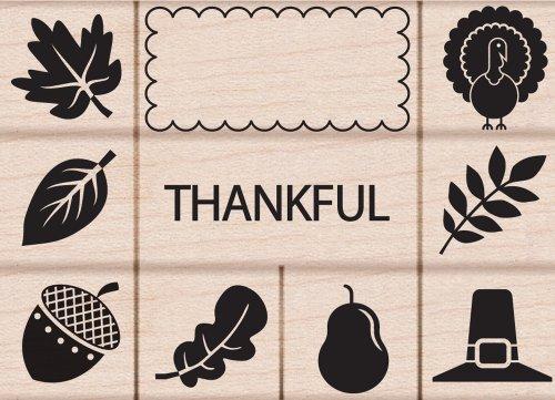hero-arts-thankful-woodblock-stamp-set