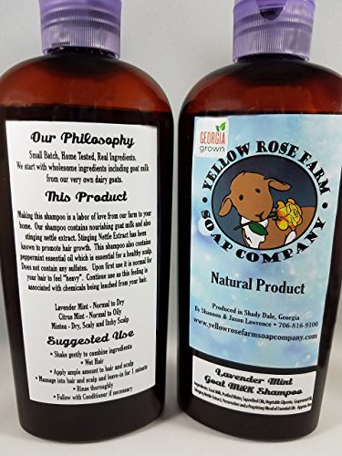 Handcrafted Goat Milk Shampoo. Fresh from the FARM! All Natural, NO SULFATES, PARABENS, or MINERAL OIL. Safe for processed hair. Hair Growth!