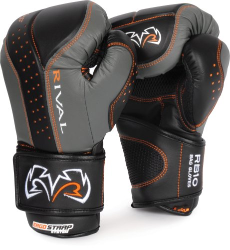 Rival d30 Intelli-Shock Bag Gloves, BK/GR, L by Rival