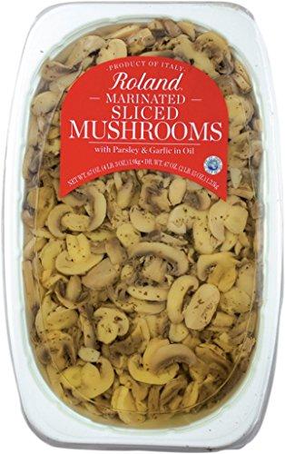 Roland Foods Sliced Mushrooms, Marinated, 67 ()