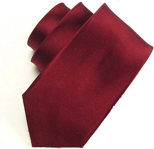 JJSFJH Corbatas for Hombres 7cm Vino Rojo Diseño clásico Hombres ...