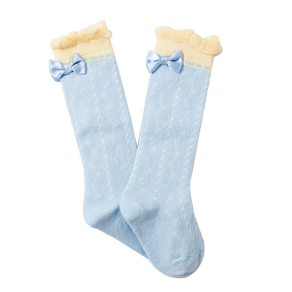 Candy Color Baby Kids Girls Autumn Bow Floral Breathable Below Knee High Socks xxiaoTHAWxe High Socks