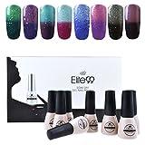 la colors gel like nail polish - Elite99 Temperature Color Changing Gel Nail Polish Kit 8 Colors, Soak Off UV LED Nail Polish Set Nail Art C045
