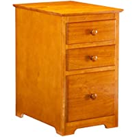 Three Drawer File Cabinet, Caramel Latte