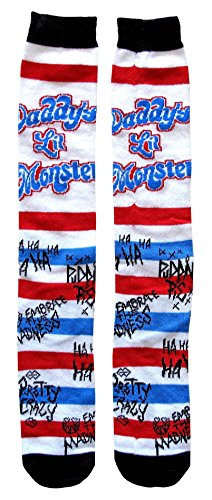Suicide Squad Harley Quinn Daddy's Lil Monster Juniors/Womens Knee High Socks