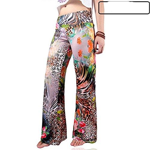 Cómodo Pantalones 7 Colour Mujer Pantalon De Libre Pants Casuales Elegantes Vintage Fashion Verano Tiempo Battercake Mujeres Estampadas Anchos v1Hwq