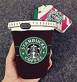 iPhone 6S Plus Case, MC Fashion 3D Coffee Super Cute Silicone Case Cover for iPhone 6S Plus (2015) & iPhone 6 Plus (2014) (Coffee Cup)