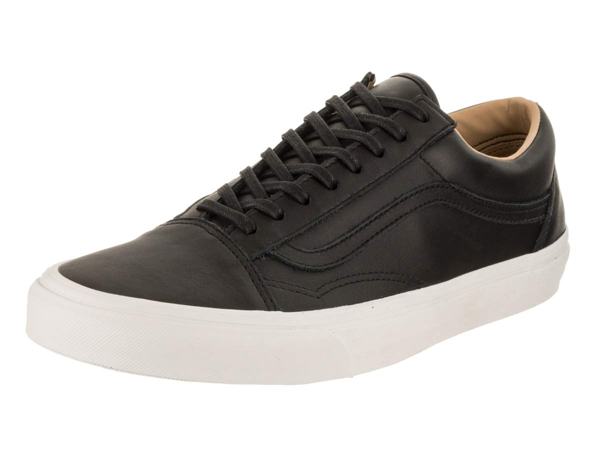 Vans Men's Old Skool (Lux Leather) Lux Leather/Black/Porcini Skate Shoe 12 Men US