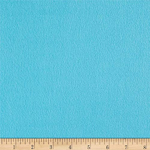 Newcastle Fabrics Polar Fleece Solid Turquoise Fabric By The Yard