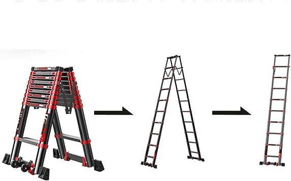Escalera de extensión - Escalera Loft doméstica antideslizante Pies y barra estabilizadora - Altura máxima 4.7m - Negro (Size : 3.5m/11.48ft(3.5m+3.5m)): Amazon.es: Bricolaje y herramientas
