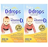 Ddrops Baby vykDd 400 IU, 90 drops 2.5mL - 90 Drops (2 Pack)