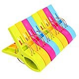 Danmu Colorful Beach Towel Clips for Beach Chair or Pool Loungers (8 Pack)
