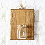 Abramz Creative Home Wall Decoration, Wooden Wall Hanging Plant Terrarium Glass Planter Container Coffee