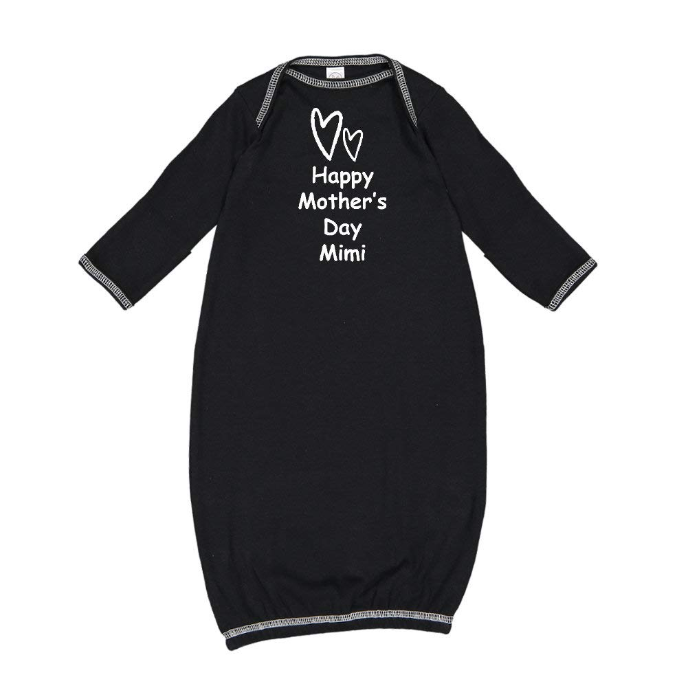 Baby Cotton Sleeper Gown Two Hearts Happy Mothers Day Mimi